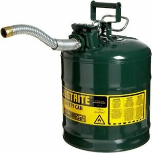 Five Gallon Gas Can Container Metal Sturdy For Large Big Green Diesel Fuel Best