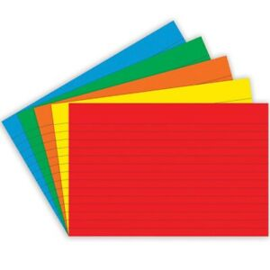 Ruled Primary Color Index Cards By Top Notch Teacher 4x6 4x6 Ruled