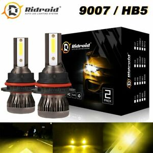 3000k Yellow Mini 9007 Hb5 Led Headlights 28000lm Led Bulbs Kit Hi low Beam
