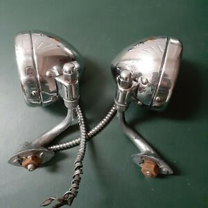 Vintage Cowl Driving Lights 20s 30s With Brackets 3 1 2