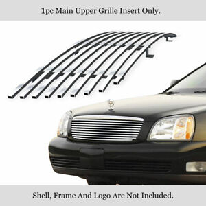 Fits 2000 2005 Cadillac Deville Main Upper Stainless Steel Chrome Billet Grille