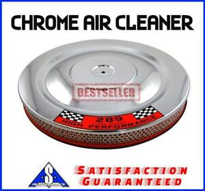 14 Chrome Air Cleaner Kit Breather Filter Hot Rat 289 Fits Ford