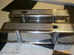 Ball Milled Valve Covers Sb Chevy Sbc Aluminum Alum Small Block Chevy Short