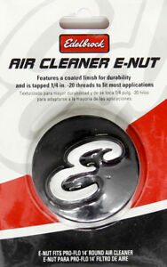 Edelbrock 4271 Elite Series Air Cleaner Nut Black Anodized Machined