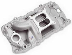 Edelbrock 7561 Big Block Chevy Oval Port Rpm Aluminum Air Gap Intake Manifold