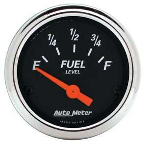 Auto Meter 1422 Gauge Fuel Level 2 1 16 0 E To 90 F Designer Black