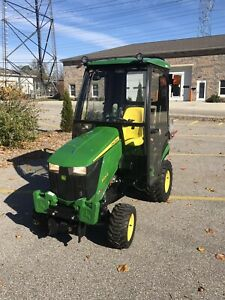 John Deere 1025r Tractor 31 Hrs Snow Blower Log Splitter Heated Cab