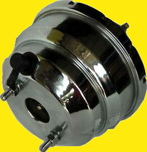 7 Chrome Dual Diaphragm Power Brake Booster Fits Ford Chevy