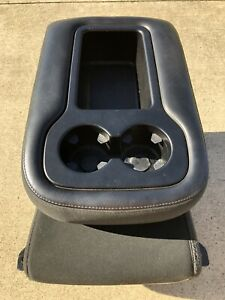 Oem 07 13 Gm Silverado Gmc Sierra Jump Seat Center Console Folding Black Cloth W