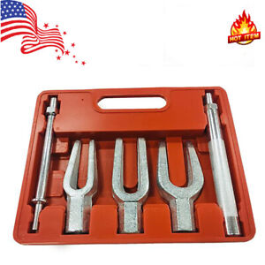 5pcs Pickle Fork Tool Set Tie Rod Ball Joint Pitman Arm Seperator Remover Us