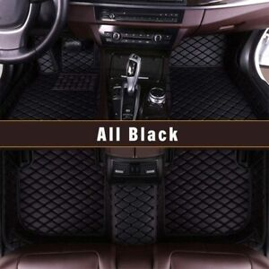 Floor Mats For Jeep Grand Cherokee 2011 2018 Full Covered Front And Rear Black
