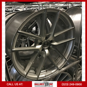 22 Gianelle 5x115 Silver Machined Wheel And Tire Package