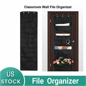 Heavy Duty Wall File Chart 2x Stitched Hanging Paper Organizer Door Mounted