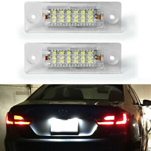 For Vw Caddy Jetta Passat 3bg 3c B6 Golf Skoda Superb Led License Plate Light 2x