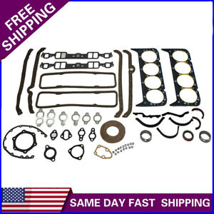 Small Block Chevy 327 350 Complete Overhaul Gasket Seal Set Head Intake Exhaust