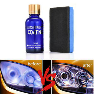 30ml 9h Headlight Lens Car Scratch Repair Polishing Liquid Polish Cleaning Kit