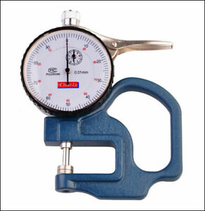 0 10mm Dial Thickness Gauge Leather Cloth Paper Film Thickness Meter 0 01