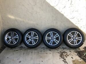 2010 2014 Ford Mustang 17 Wheels Gray W Machined Face Oem 4 With Tires A