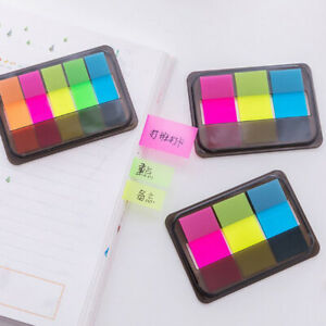 60 100pcs Fluorescence Sticky Notes Memo Flags Bookmark Marker Tab Sticker S2