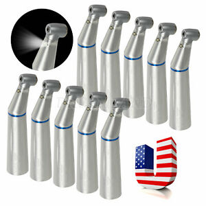 10 Pcs Dental Led E generator Fiber Optic Contra Angle Low Speed Handpiece Rx2b