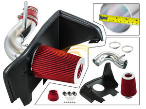 Bcp Red For 2016 2020 Camaro 2 0t Turbo Heat Shield Cold Air Intake Kit Filter