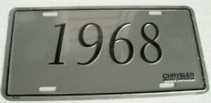 Mopar License Plate 1968 Chrysler Dodge Plymouth 68