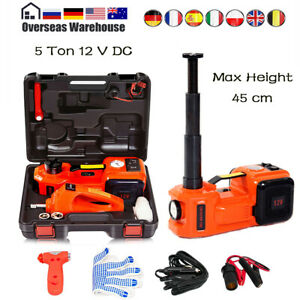 Car Jack Lift 5 Ton Electric Hydraulic Floor Jack Impact Wrench Repair Tool Kit
