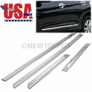 Us 4pcs Chrome Side Door Moulding Strip Body Trim For Honda Crv Cr v 2012 2016