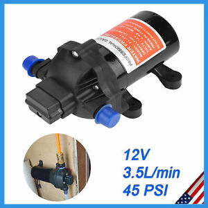 Dc 12v High Pressure Diaphragm Mini Water Pump Automatic Switch 45psi 5 L min Us