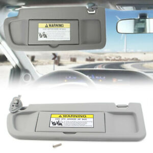 Car Driver Side Sun Visor Fits 2006 2010 2011 Honda Civic Ex Lx Sedan Light Gray