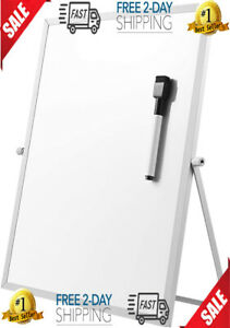 Stobok Magnetic Dry Erase Board With Stand For Desktop Double Sided White Board
