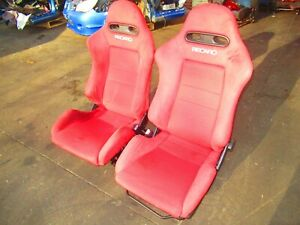 Jdm 2002 2006 Honda Integra Type R Rsx Dc5 Red Recaro Seats Rails Ek9 Dc2 Dc5