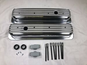1987 97 Chevy 5 0l 5 7l Tall Polished Aluminum Center Bolt Valve Covers 350