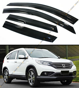 For 2012 15 Honda Crv Cr v Jdm Wavy 3d Style Smoked Window Visor Rain sun Shade