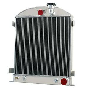4 Row Aluminum Radiator Fits Ford Grill Shells 3 Chopped Chevy Engine 1939 1940