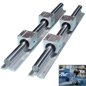 Sbr20 Linear Rail Slide Guide 400mm 2x Shaft Sbr20uu Block Bearing A Set Cnc
