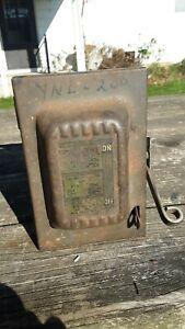Vintage Antique Fuse 30 Amp Safety Switch Box Steampunk Keybox Holder