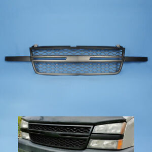 Fit For 2005 07 Chevy Silverado 1500 2500hd 3500 Front Upper Grill Black Grille
