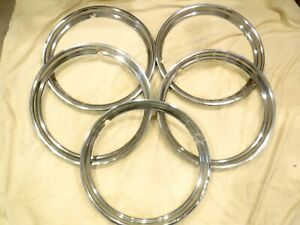 Lot Of 5 1948 1950 Willy s Jeepster 15 Beauty Rims rings 74