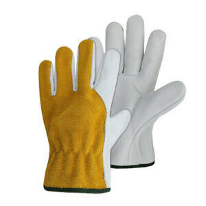 G tuf Select Top Grain And Suede Hybrid Unlined Cowhide Leather Work Gloves