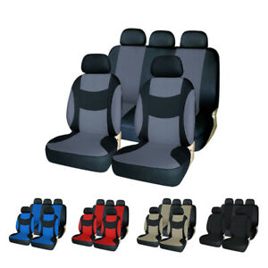 Car Seat Cover Set Front Rear Back Car Accessories For Auto Suv Truck 5 Colors