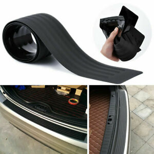 Black Car Rear Bumper Guard Protect Sill Rubber Plate Cover Pad Accessories Kit