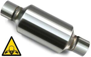 Single Chamber Performance Muffler 5 Round 3 In Out