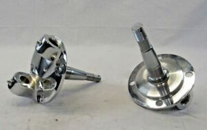 Chrome 28 48 Ford Straight Axle R Spindle With King Pin Kit Bushings Installed