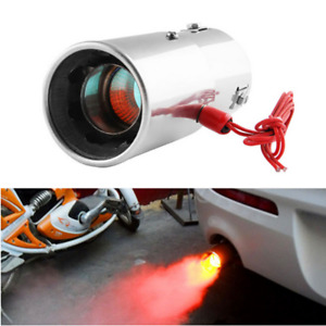 Universal Modified Car Exhaust Pipe Flame Spray Red Light Spitfire Muffler Tip