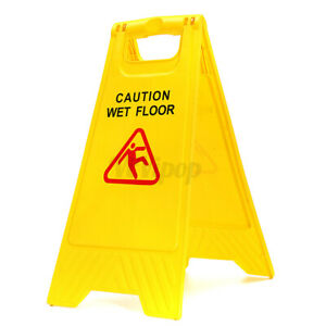 Caution Wet Floor 24 Folding Safety Sign Cleaning Slippery Warning 2 Sided Usa
