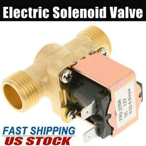 12 volt Dc 12v 1 2 Normally Closed Electric Solenoid Valve For Water Control Us