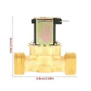 Electric Magnetic Valve Normal Closed Brass Electric Solenoid Valve For Water