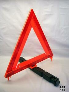 Car Triangle Safety Warning Emergency Sign Reflective Foldable With Storage Case