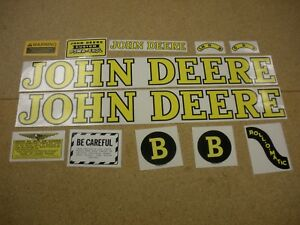 John Deere Model B Styled Tractor Decal Set New Free Shipping
